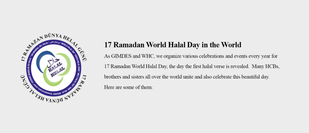 17 Ramadan World Halal Day in the World